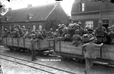German troops loading for transport to the